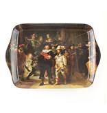 Ensemble: Tasse et plateau,:  Veille de nuit, Rembrandt