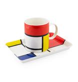 Set: Becher & Tablett, Mondrian