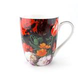 Set: Taza y bandeja, De Heem, Bodegón de flores