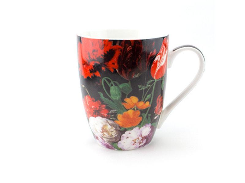Ensemble: tasse et plateau, De Heem, Nature morte aux fleurs