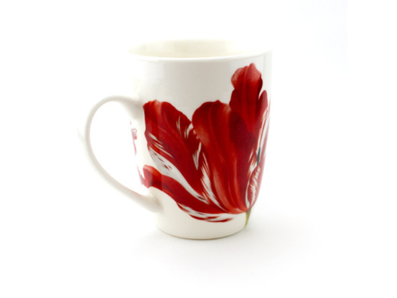 Set: Becher & Tablett, Merian, drei Tulpen