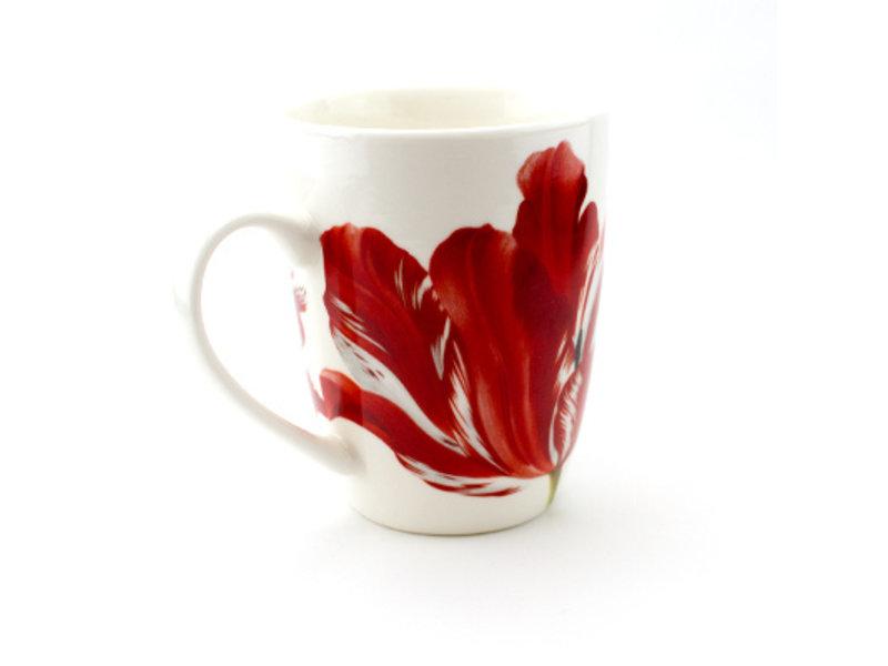 Set: Mok & dienblad, Merian, Drie tulpen