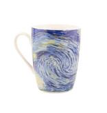 Set: Mok & dienblaadje, Sterrennacht, Van Gogh