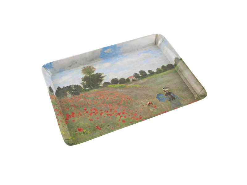 Mini dienblad , 21 x 14 cm, Monet, Veld met Klaprozen