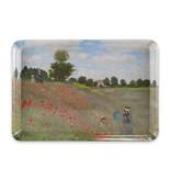 Minitablett, 21 x 14 cm, Monet, Feld mit Mohnblumen
