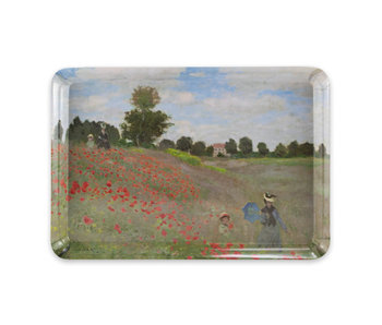 Mini bandeja, 21 x 14 cm, Monet, campo con amapolas
