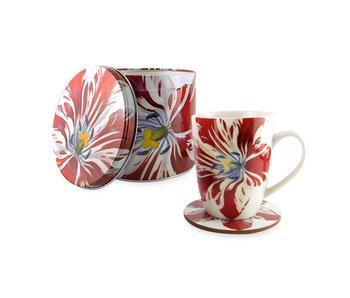 Set: Tasse/ étain / dessous de verre, Tulip Marrel
