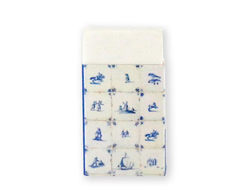 Eraser, Delft blue tiles
