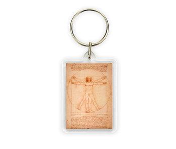 Sleutelhanger,  Da Vinci, Mens van Vitruvius