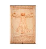 Koelkast magneet, Da Vinci, Mens van Vitruvius