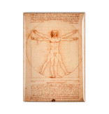 Kühlschrankmagnet,  Da Vinci, vitruvianischer Mann