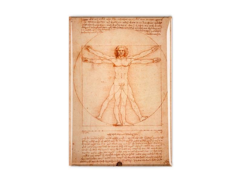 Aimant frigo, Da Vinci, homme de Vitruve