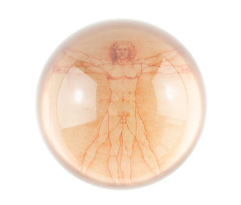 Glass Dome,   Da Vinci, Vitruvian Man