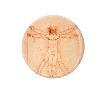 Spiegeltje, Ø 80 mm, Da vinci, Mens van Vitruvius
