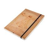 Softcover notitieboekje, A5, Leonardo da Vinci, Herren van Vitruvius
