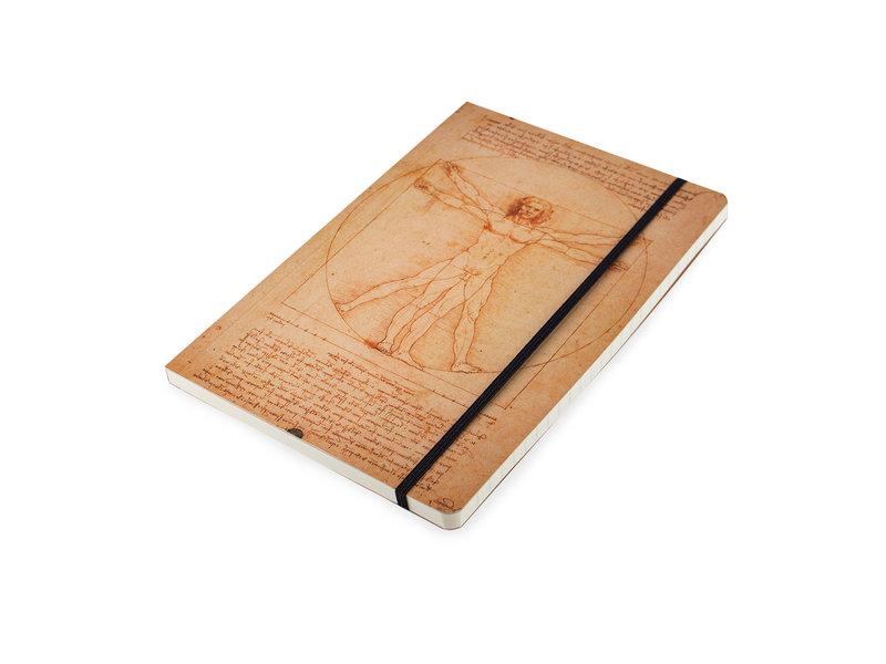 Carnet à couverture souple, A5, Léonard de Vinci, l'homme de Vitruve