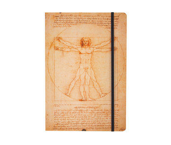 Cuaderno de tapa blanda, A5, Leonardo da Vinci, Hombre de Vitruvio