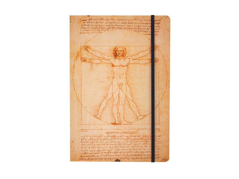 Softcover notitieboekje, A5,  Leonardo Da Vinci, Mens van Vitruvius