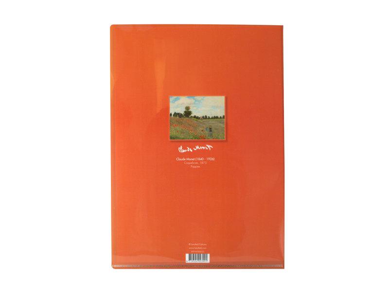 Porte-documents A4, Monet, champ de coquelicots