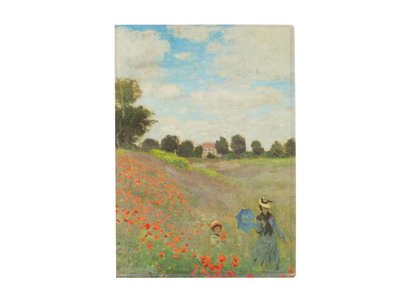 L-Ordner A4-Format, Monet, Mohnfeld