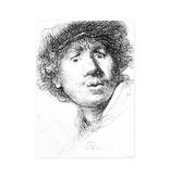 Paño de cocina, Autorretrato con mirada asombrada, Rembrandt