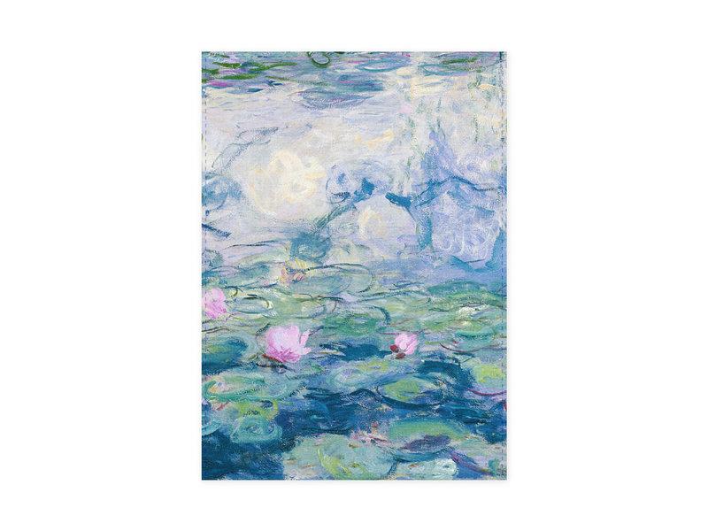 Paño de cocina, efecto nocturno Nympheas, Monet