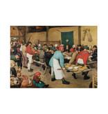 Paño de cocina, Breughel, boda campesina