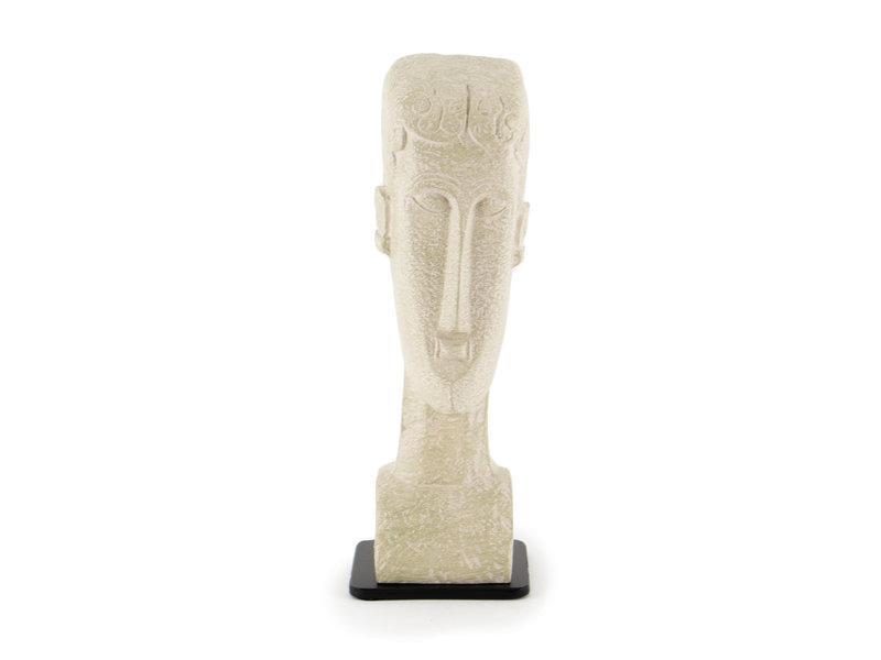 Réplica de estatua, Modigliani, cabeza de mujer