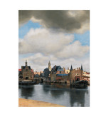 Carnet de croquis à couverture souple, vue de Delft, Vermeer