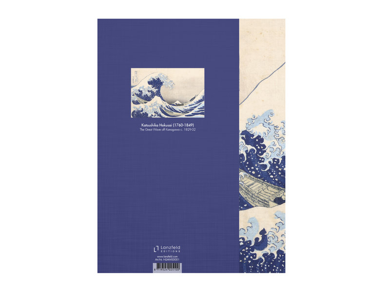 Softcover Kunst Skizzenbuch,  Hokusai, Die große Welle