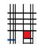 Softcover Kunst Skizzenbuch,  Mondriaan  2