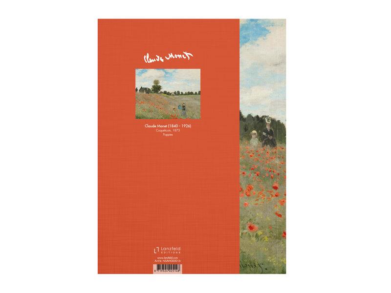 Carnet de croquis à couverture souple,  Monet, champ de coquelicots