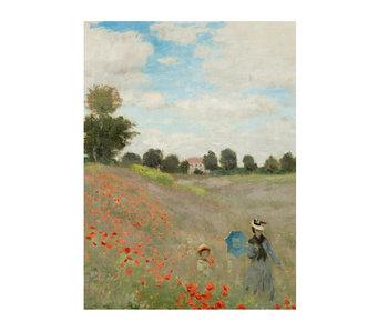 Cahier d'artiste,  Monet, champ de coquelicots