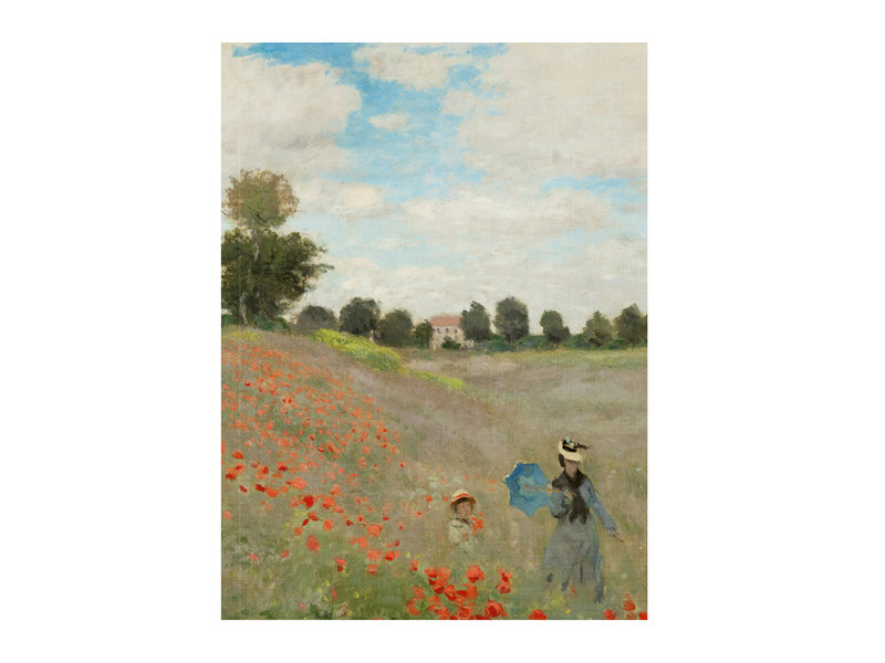 Softcover art sketchbook, Monet, field of poppies
