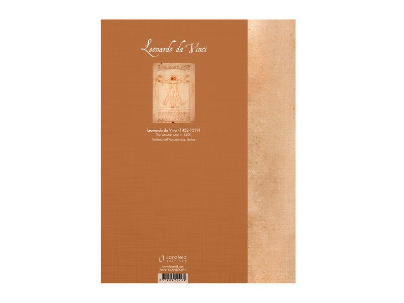 Softcover kunst schetsboek ,  Da Vinci, Mens van Vitruvius