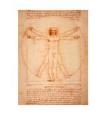 Softcover Kunst Skizzenbuch, Da Vinci, vitruvianischer Mann