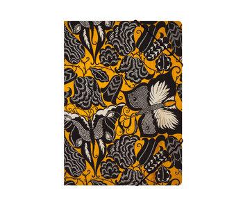 Carpeta archivadora de papel con cierre elástico, A4,Séguy, flores con mariposas