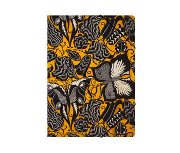 Paper file folder with elastic closure,A4, Séguy , Flowers with butterflies