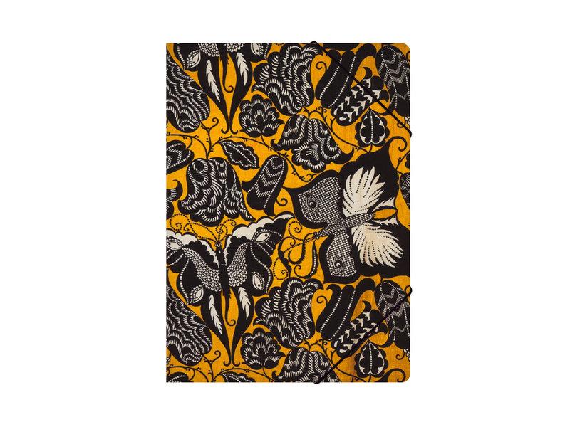 Chemise à dossier en papier avec fermeture élastique, Séguy, Fleurs aux papillons