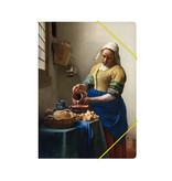 Carpeta archivadora de papel con cierre elástico,  Lechera Vermeer