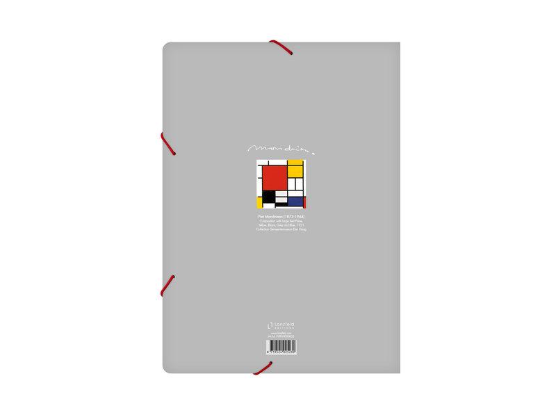 Aktenordner mit elastischem Verschluss, A4, Mondriaan 1