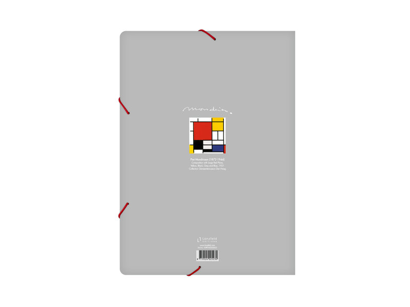 Carpeta archivadora de papel con cierre elástico, Mondriaan 1