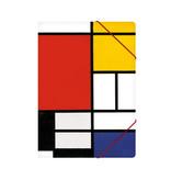 Paper file folder with elastic closure, Mondriaan 1