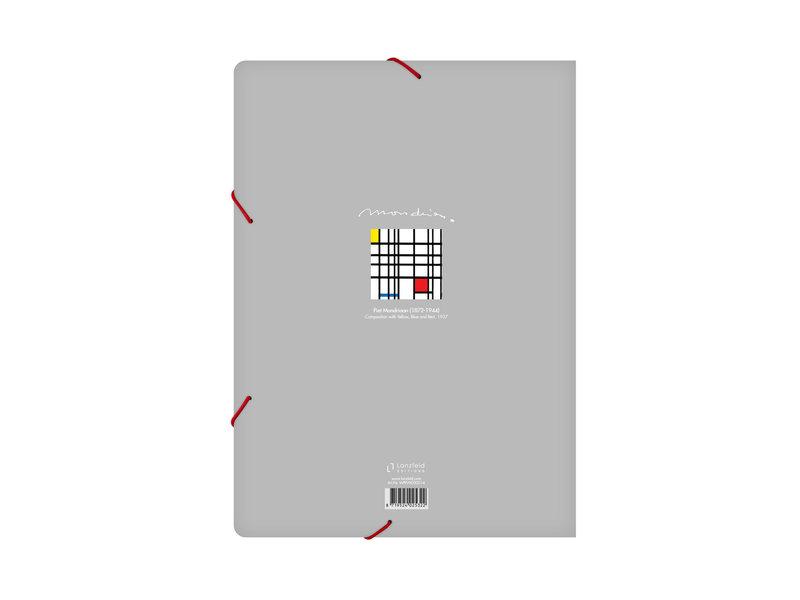 Aktenordner mit elastischem Verschluss, A4, Mondriaan 12