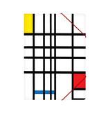 Chemise à dossier en papier avec fermeture élastique, Mondriaan 2