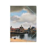 Chemise à dossier en papier avec fermeture élastique, vue de Delft, Vermeer