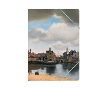 Paper file folder with elastic closure,A4, View of Delft, Vermeer