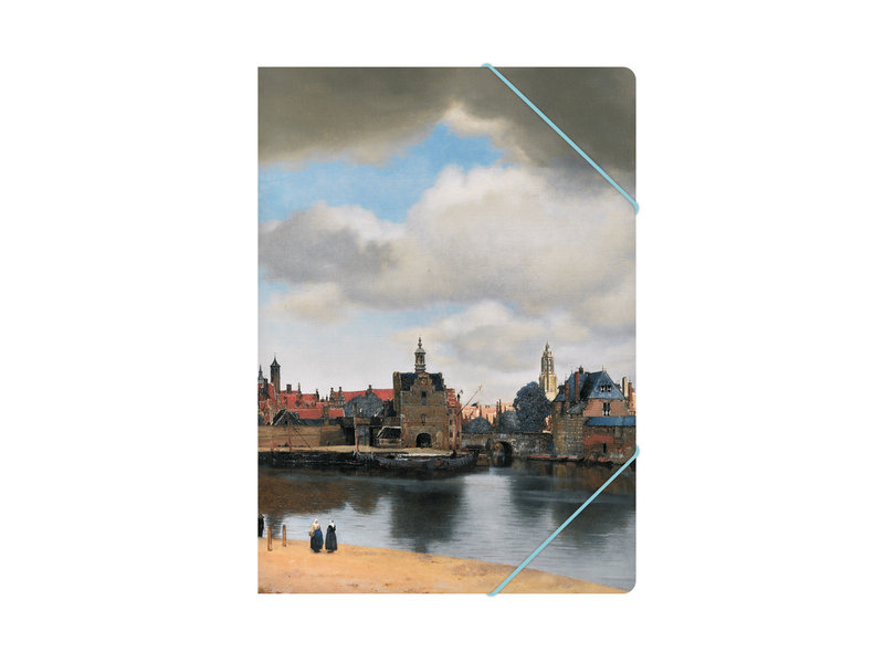 Paper file folder with elastic closure, View of Delft, Vermeer