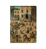 Paper file folder with elastic closure, Bruegel, Childsplaying