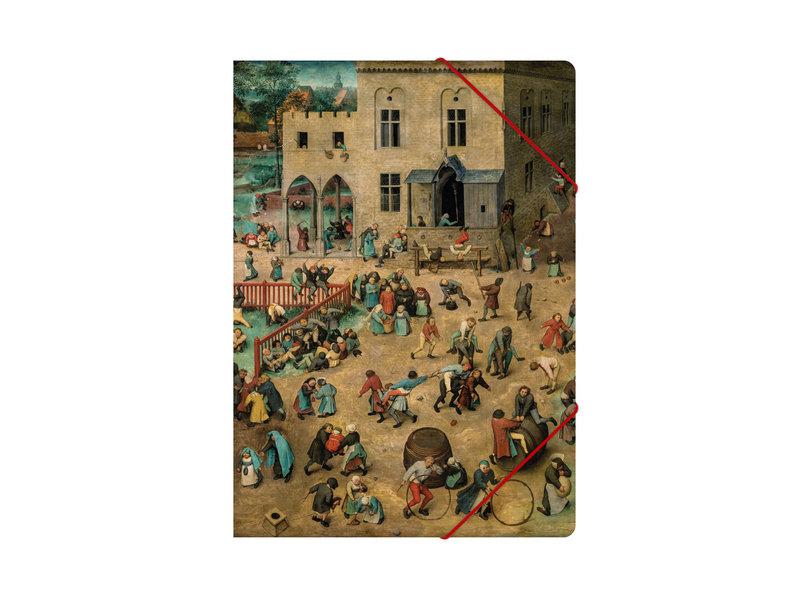 Aktenordner mit elastischem Verschluss, A4, Bruegel, Kinderspiele
